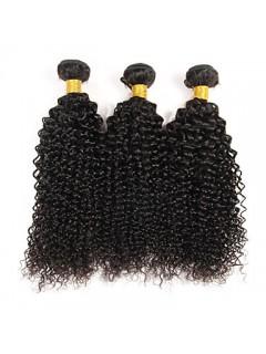 3 Bundles Brasilianische Verworrene Lockige Jungfrau-Haar