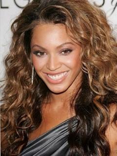 Beyonce Lange Wellige Vollspitze Echthaar Perücke