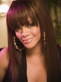 Rihanna Gerade Spitzefront Mono Top Echthaar Perücke