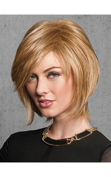 Bequeme Capless blonde gerade Remy Echthaar Perücke