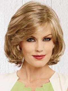 Mode Carrie Under Frisur Medium Lose Wellenförmige Blond