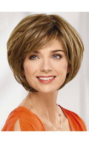 Glossy Exquisite Graceful Kurze Lockige Echt Menschliches Haar