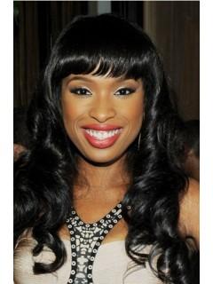 African American Damen Round Faces Lang Perücken