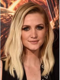 Ashlee Simpson Mittel Spitzefront Blond Welling Remy Echthaar Perücken