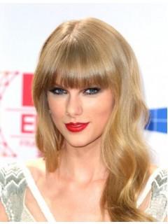 Taylor Swift Lang Kappenlos Welling Synthetik Perücken