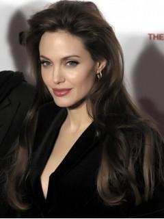 Angelina Jolie Lang Spitzefront Schwarz Welling Remy Echthaar Perücken