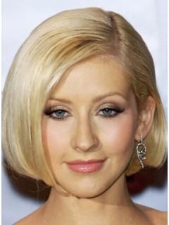 Christina Aguilera kurze gerade Bob Perücke