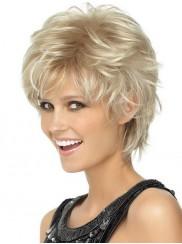 kurze blondierte haare